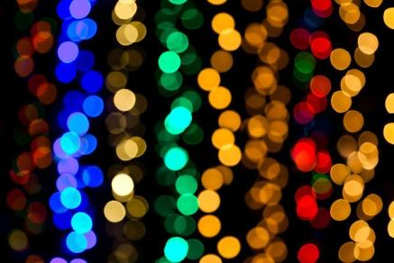 blurred colorful lights
